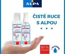 Soutěž o 10 balíčků s desinfekčními produkty firmy ALPA