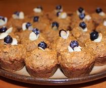 Mini celozrnné mrkvovo-jablečné muffiny