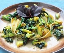 Avokádovo-špenátové těstoviny
