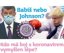 Babiš nebo Johnson? Kdo má boj s koronavirem vymyšlen lépe?
